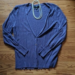 Mossimo Purple Cardigan
